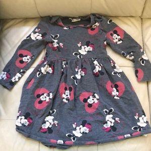 DISNEY Minnie/Mickey Mouse Dress Size 4T